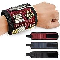 Pawaca Wristband Magnético con 5 los Imanes Fuertes para los Tornillos de la Explotación Agrícola, Clavos, Pedacitos de Taladro, El Mejor Regalo de la Herramienta para DIY Handyman, Hombres, Mujeres
