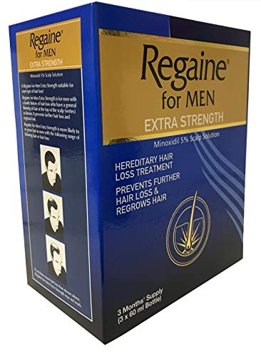 Regaine Solution 3 Month Supply - 3 x 60ml 5% Minoxidil Hair Regrowth Solution Pack For Men