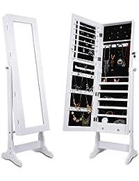 LANGRIA Schmuckschrank Spiegelschrank Schmuckregal Winkel Einstellbar Schmuckkasten (Type 1)
