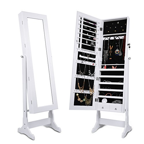 langria-free-standing-lockable-full-length-mirrored-jewellery-cabinet-armoire-2-drawers-and-3-angle-