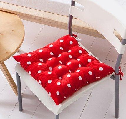 Casadeiy Indoor Patio Home Office Dekore Polka Dot Stuhl Pads Sitzpolster Kissen Geschenke size 40*40cm (rot) - Komfort Stoff Bandagen