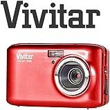 18 Megapixel kompakte Digitalkamera Vivitar E128 18MP mit 2.7 Schirm, 4x Zoom (Rot)