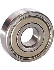 EZO - Roulement à billes à gorge profonde rangée simple en acier inoxydable 6302 ZZ (15x42x13)