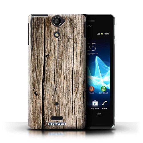 KOBALT® Hülle Case für Sony Xperia V/LT25i | Treibholz Entwurf | Holz/Holzmaserung Muster Kollektion Treibholz