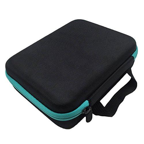 30 slots portable Oxford tissu huiles essentielles de transport sac porte-bagages rangement case organisateur boîte pour 5ml 10 ml 15 bouteilles bleu