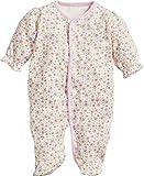 Playshoes Baby-Mädchen Schlafstrampler Schlafoverall Blumen, Beige (Beige 6), 62