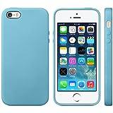 iProtect TPU Schutzhülle iPhone 5 5s Hülle Maserung blau