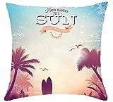 Dress rei Beach Coconut Tree Cotton Linen Throw Pillow Cover Sofa Office Decorative 18