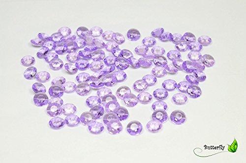 100 Dekosteine Diamanten 12mm ( flieder 462H ) // Deko-Steine Diamanten 1,2 cm Streudeko Tischdeko Steine Diamonds Kristall Hochzeit Streuteile