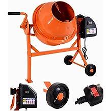 Costway 63L 220W Electric Concrete Cement Mixer Portable Plaster Drum Mortar 240V Wheels
