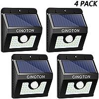 Cinoton Apliques de exterior 28 LED Luz de jardín Modo 3 IN 1 Luz de seguridad Paquete de pared 2200mAh (30LED 4 Luz)