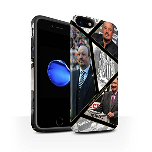Officiel Newcastle United FC Coque / Matte Robuste Antichoc Etui pour Apple iPhone 7 / Bienvenue Design / NUFC Rafa Benítez Collection Montage