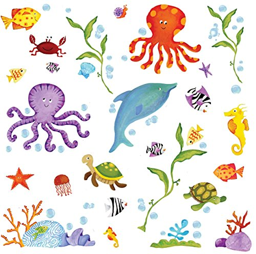 RoomMates Repositionable Childrens Wall Sticker Adventures Under The Sea Part 37