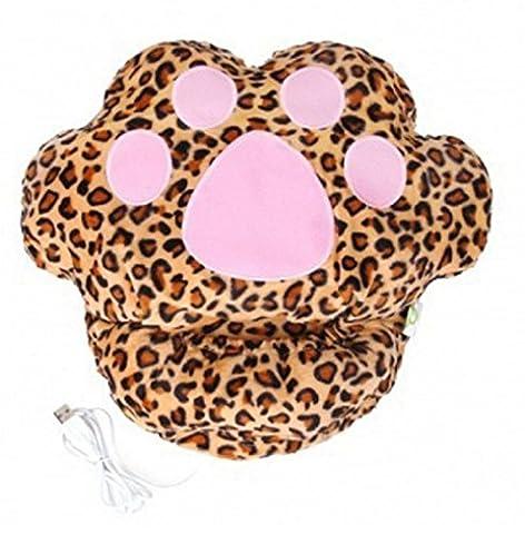 Butterme Mignon de bande dessinée chauffe-pieds USB plus chaud chauffe pantoufles chauffe-pieds en peluche à la main de réchauffement, coussins chauffants, chauffe-pieds pour les filles des Filless en hiver par temps froid