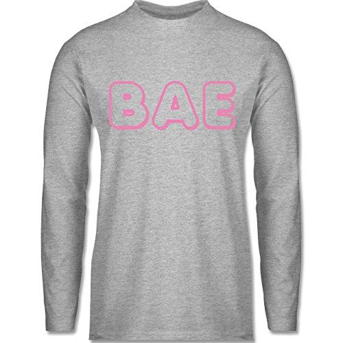 Statement Shirts - BAE - Longsleeve / langärmeliges T-Shirt für Herren Grau Meliert