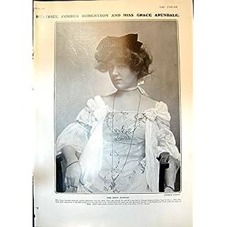 Old Print Grace Arundale George Edwardes J Maskelyne Eva Mylott 1904 219Q013