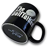 verytea The Golf Father Black Mug Cup