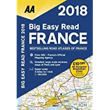 AA Big Easy Read France 2018 (AA Road Atlas) (Aa Road Atlas France)