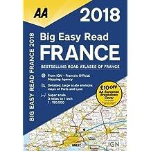 AA Big Easy Read Atlas France (Aa Road Atlas France)