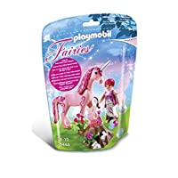 Playmobil 5443 Care Fairy with Unicorn Rose Red