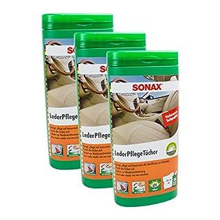 SONAX 3X 04123000 LederPflegeTücher Box 25 Stück
