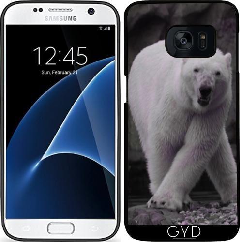 Custodia in silicone per Samsung Galaxy S7 (SM-G930) - Ballare Orso Polare by More colors in life