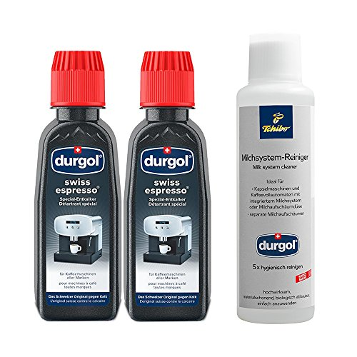 Tchibo Durgol Reinigungs-Set (Milchsystemreiniger und Spezialentkalker ideal für Kapselmaschinen...