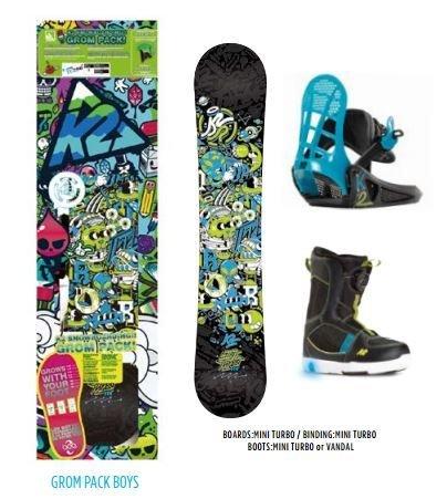 K21150061.1.s.050Set Snowboard Jungen, Mehrfarbig, Größe L