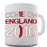 Twisted Envy Come On England Funny Büro Secret Santa Geschenk, keramik, weiß, 15 OZ
