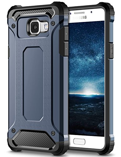 Coolden Samsung Galaxy A5 2016 Hülle, Premium [Armor Serie] Outdoor Stoßfest Schutzhülle Tough Silikon + Hard Bumper Militärstandard Handyhülle für Samsung Galaxy A5 2016(Blau)