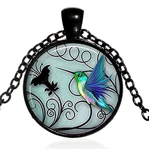 alskette Display Kreative Blaue Hummingbird Zeit Edelstein Halsketten Mode Feine Kette Halsketten Nette Schmuck Geschenke Zubehör Für Frauen Schmuck Halskette ()