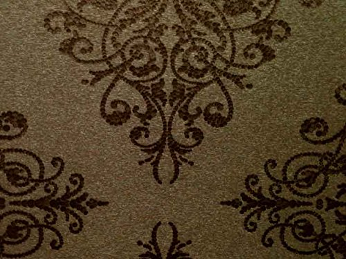 Marshalls LT361107 Paper Damask Wallpaper - 5.3Sqmt (Brown)
