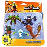 IMC Toys 30039 - Pack 5 Figuras Invizimals - JUNGLEUS - VORTEX - CYCLOPS - ICELION - ROCK DRAGON