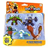IMC Toys 30039 - Pack 5 Figuras Invizimals - JUNGLEUS - VORTEX - CYCLOPS - ICELION - ROCK DRAGON