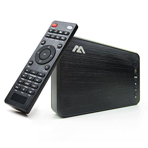AGPTEK Media Player HDMI VGA Video Player USB OTG
