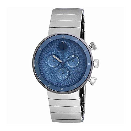 Movado Men's Edge 42mm Steel Bracelet & Case Swiss Quartz Watch 3680030