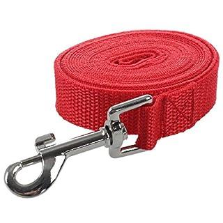 TOOGOO(R) Schleppleine Faehrtenleine Suchleine Feldleine Leine Ausbildungsleine Hundeleine Farbe:rote Laenge:3m