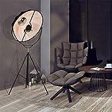 Creative Schmiedeeiserne Metall-Fußboden Lampe Nordic Modern Satellite Tuch Cover Stativ Floor Lampe Schlafzimmer Study Restaurant Persönlichkeits Beleuchtung E27 * 1--Ohne Lichtquelle,Small65cm