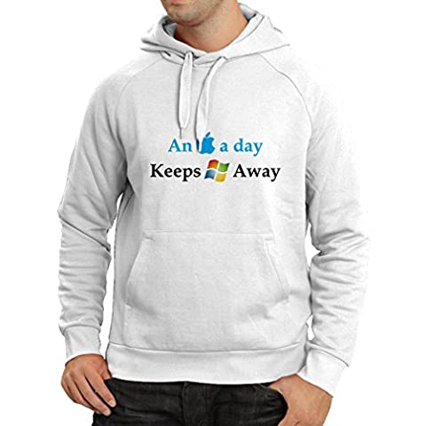 N4246H Hoodie An Aplle a day ... (Small White Multi Color)
