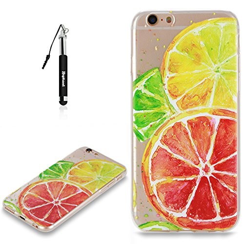 Coque iPhone 6S Case Silicone Chat,Huphant Etui pour telephone avec TPU Silicone Cas iPhone 6 Housse Crystal with Coque couleurs for iPhone 6S Etui silicone TPU Flamant Fleurs Datura Fille Pissenlit P Citron