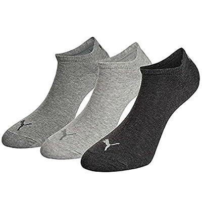 6 Paar Puma Sneaker Invisible Socken Gr. 35 - 49 Unisex für Damen Herren Füßlinge, Farbe:800 - anthraci/l mel grey/m me;Bekleidungsgröße:S