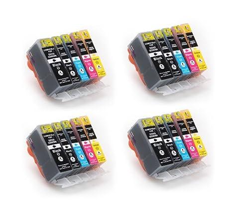 20 kompatible Druckerpatronen, PGI-525, CLI-526BK, CLI-526C, CLI-526M, CLI-526Y