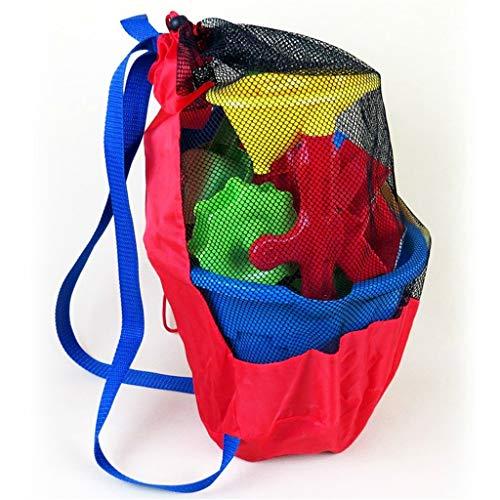 h Strand Spielzeug Tasche, Durable Kordelzug Strand Rucksack für Kinder Strand Sand Spielzeug Wasser Spaß Sport Bad Kleidung Handtücher Rucksäcke Geschenk ()