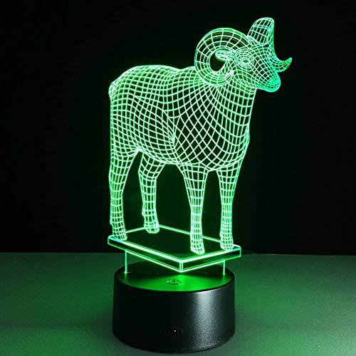 YRANPEA Schöne Lampe 3D Visual Led-Leuchten für Kidsbaby Sleeping Nightlight Powerbank
