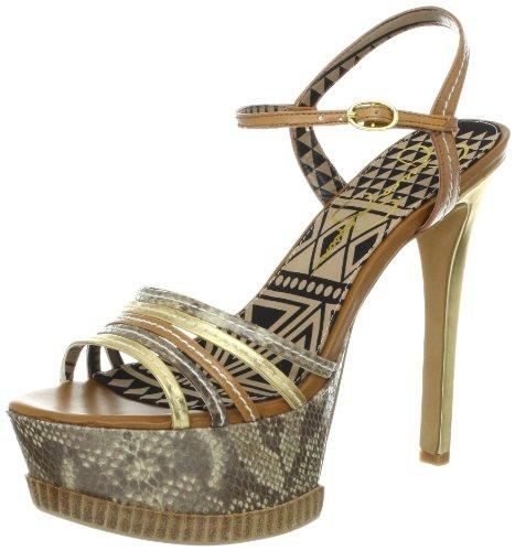 Jessica Simpson Mujeres Sandalias con Plataforma, Gold Combo, Talla 8