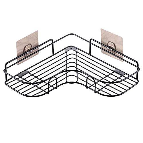 Mempers Punch-Free Eckregal, Schmiedeeisen-Fertiges Einzelschichtregal, dreieckiges Lagerregal ohne Raum, 26 × 26 × 5,5 cm, Geeignet für Wohnzimmer, Schlafzimmer, Badezimmer, Küche
