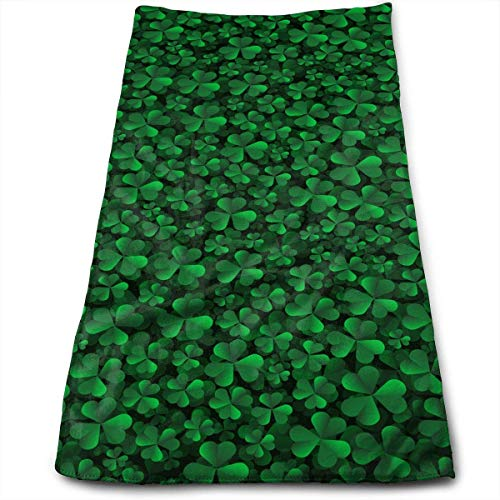 Hotel Towels St. Patrick's Day Lucky Shamrock Super Soft Absorbent Sports/Beach/Shower/Pool Towel Shamrock Hotel