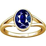 DIVYA Shakti 5,25Ratti (4,8Karat) blau Saphir Ring (NILAM/neelam Kopfteil Stone panchadhatu Ring) 100% Original AAA Qualität Edelstein, blau, W