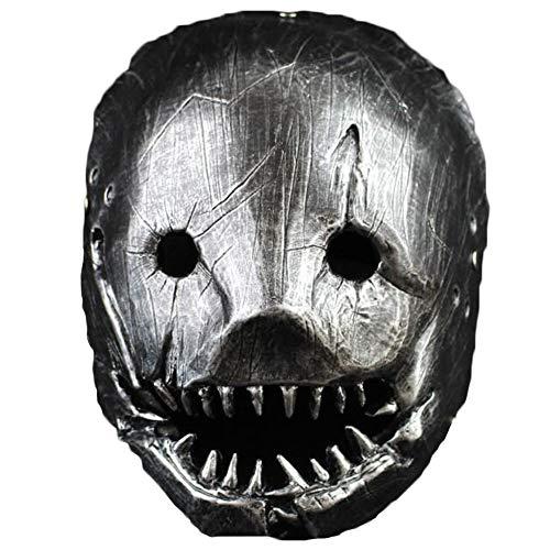 Halloween Kostüm Skizzen - Nightghost Silber Harz Halloween Maske, Verfluchte