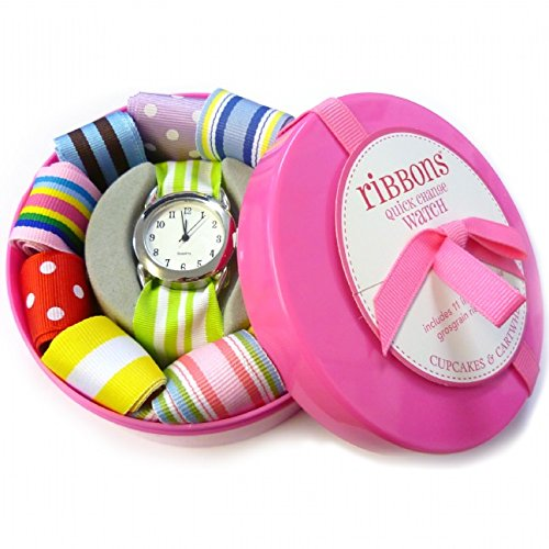 ribbon-watch-kids-girls-ladies-set-with-matching-and-additional-multi-colour-interchangeable-customi